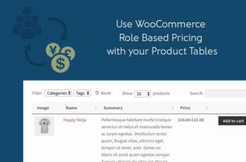 WooCommerce user role based pricing product table