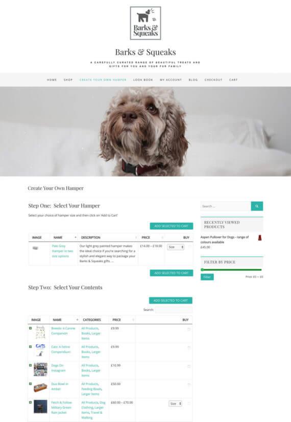 Build your own hamper website WooCommerce