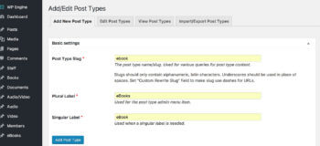 Create WordPress eBook post type plugin