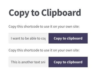 Copy to clipboard in action