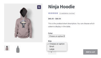 WooCommerce single product page