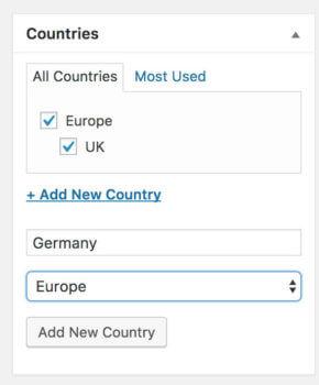 Add WordPress taxonomy term plugin