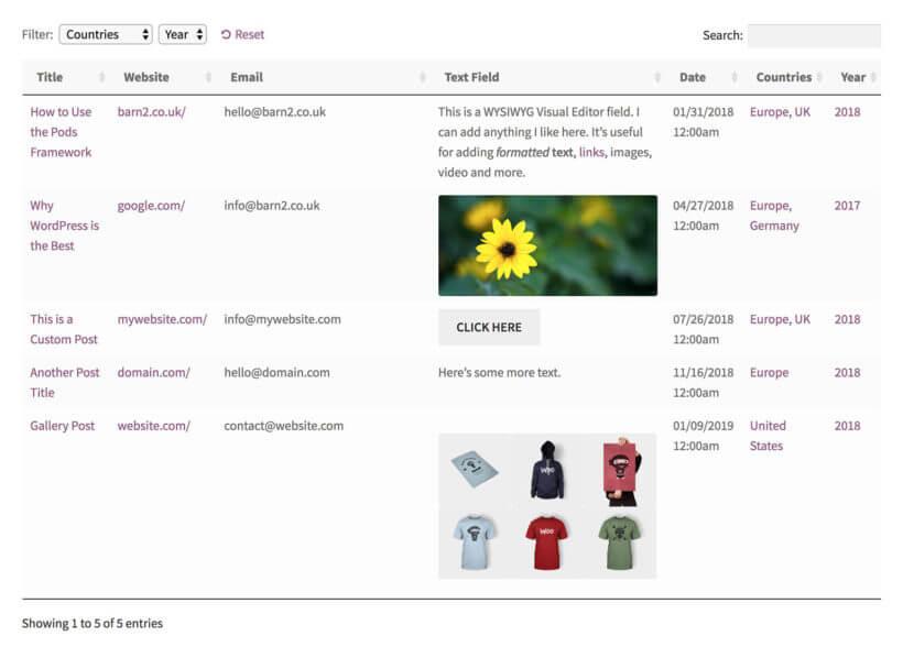 WordPress custom taxonomy filter plugin