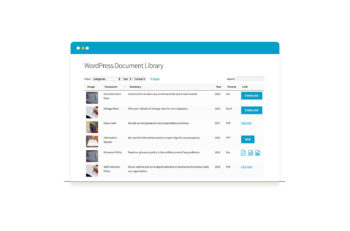 WordPress document library plugin screenshot
