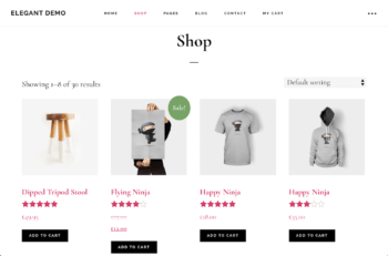 Default WooCommerce layout example