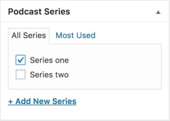 Podcast series.