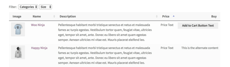 WooCommerce Catalog Visibility Table Plugin