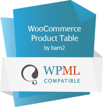 Product table WPML certified