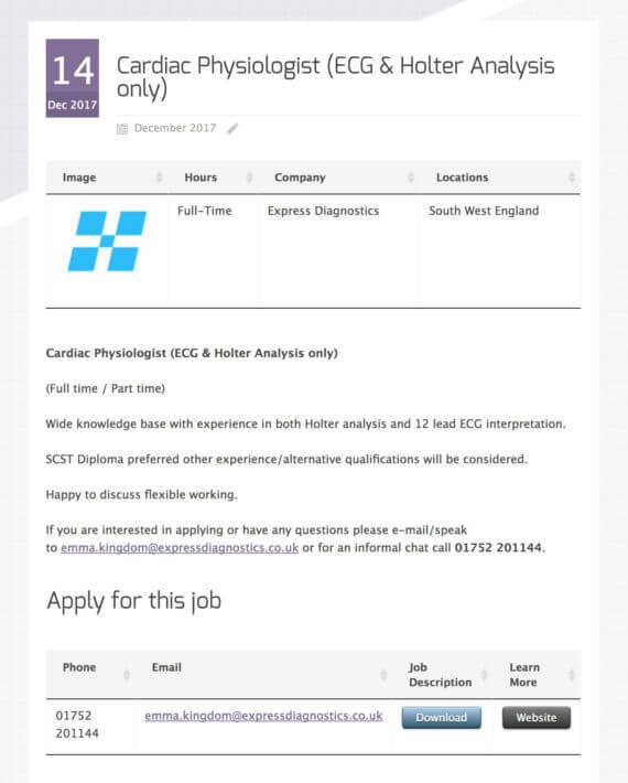 WordPress job board plugin single vacancy