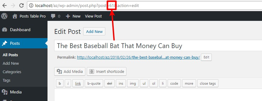 how to find post id