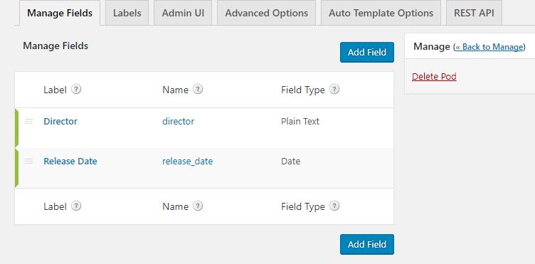 example of custom fields