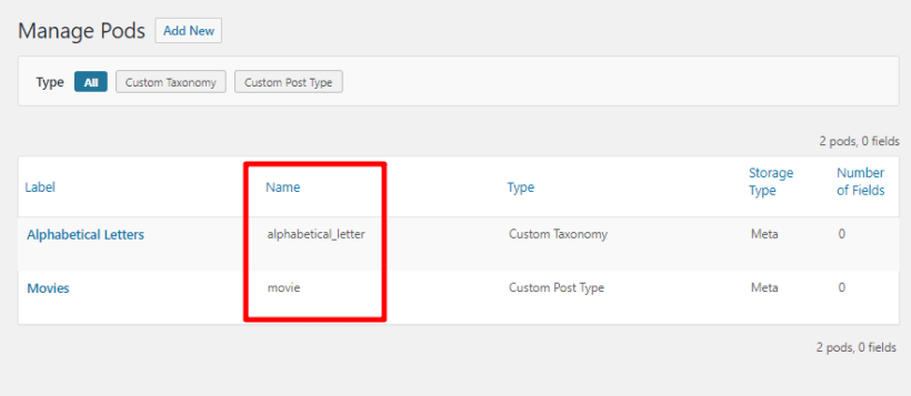 how to find taxonomy name