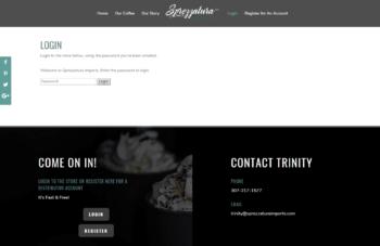 Sprezzatura Imports login page