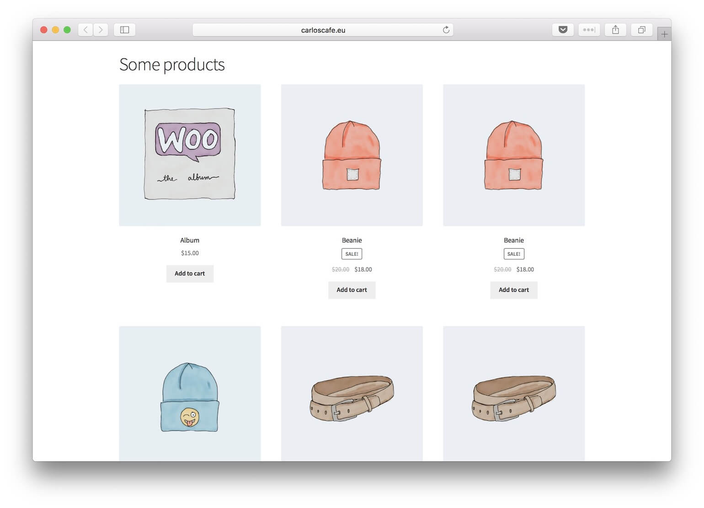 WooCommerce default grid