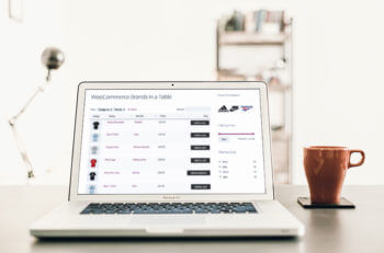 WooCommerce product brands table layout