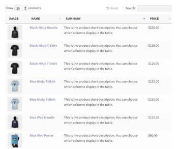 WooCommerce products index plugin