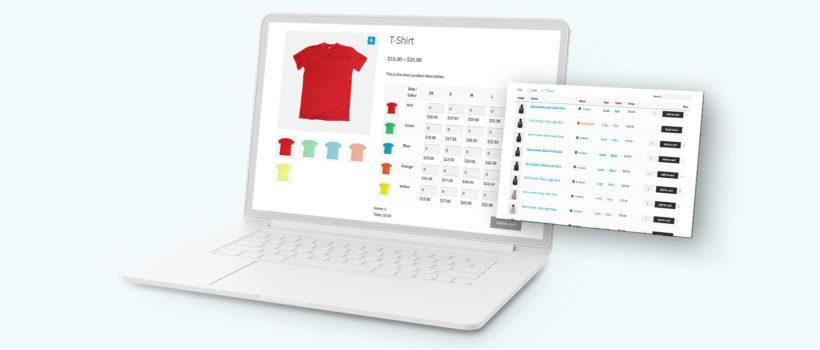 WooCommerce variations table plugin