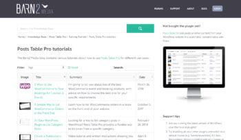 WordPress list category posts plugin