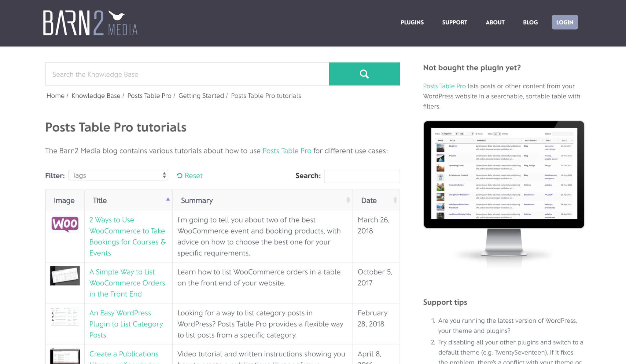 A Plugin to List WordPress Posts by Category, Tag, Author, Month & More