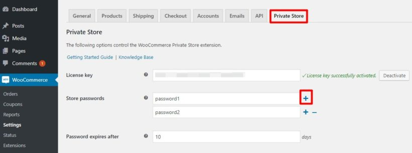 how to password protect a woocommerce shop