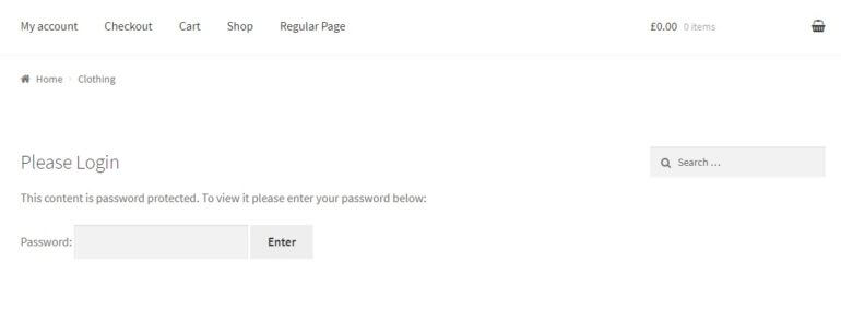 more password protection settings