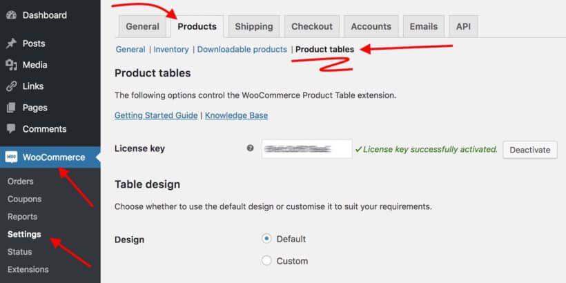 WooCommerce music store plugin settings