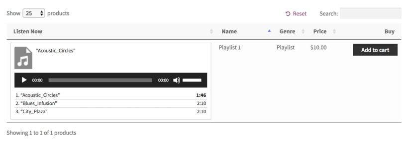 playlist to buy