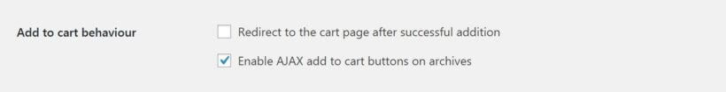 The WooCommerce Add to Cart settings.