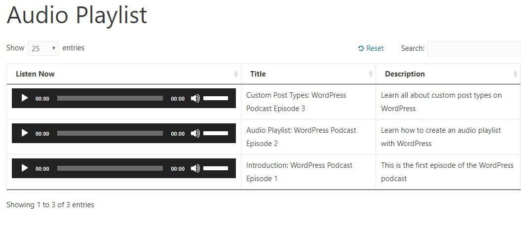 wordpress audio playlist plugin example