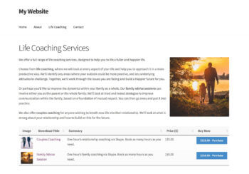 Sell Services in WordPress listed on services page