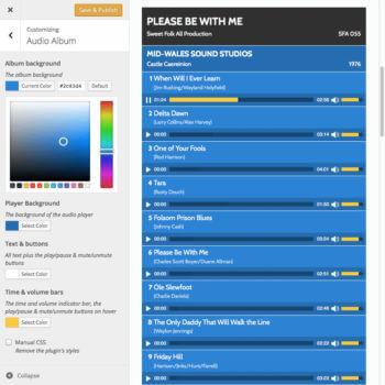 WordPress audio album plugin