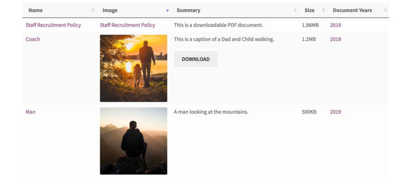 WordPress front end media library example