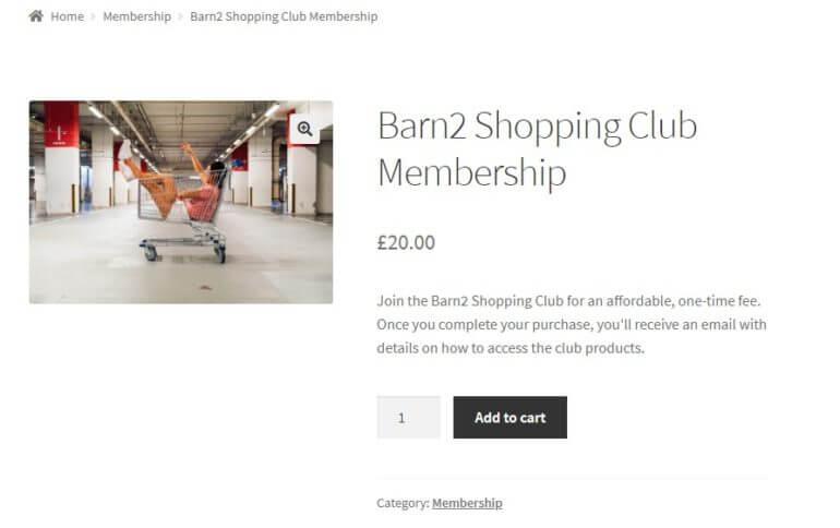 one-time purchasing club membership