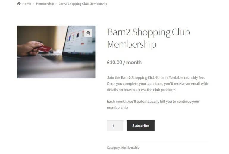 subscription purchasing club membership