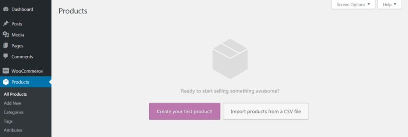 The WooCommerce Products custom post type.