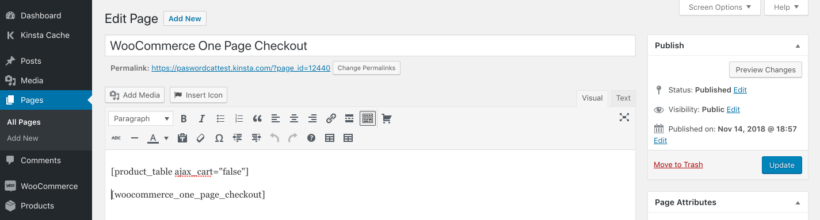 Woo One Page Checkout Plugin