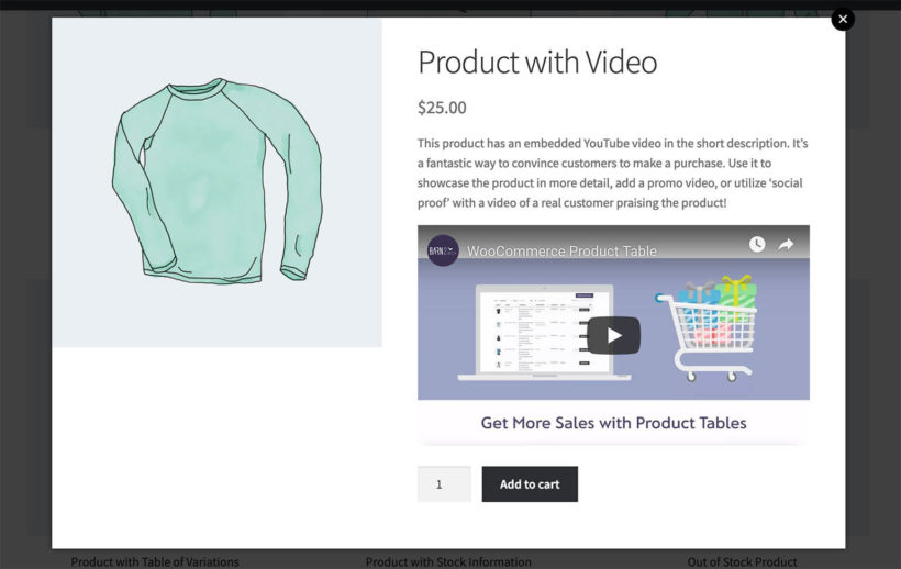 WooCommerce Quick View with Video