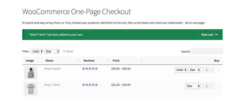 WooCommerce add to cart success message