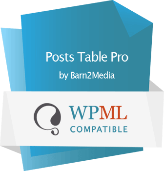 Posts Table Pro WPML certified
