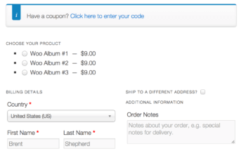WooCommerce one page checkout Woo