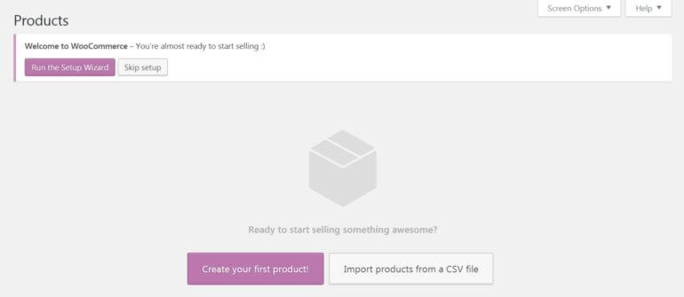Setting up your WooCommerce store.