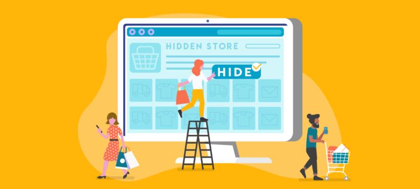 WooCommerce hidden store plugin