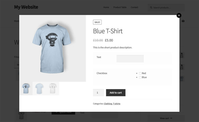 WC Fields Factory Quick View Plugin WooCommerce