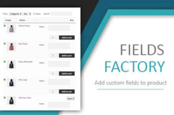WC Fields Factory WooCommerce Product Table