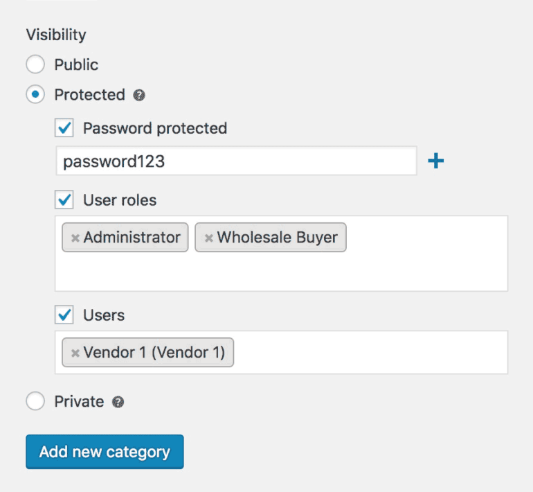How to protect a WooCommerce category