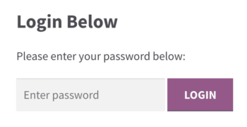 WooCommerce password protected category login form