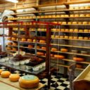 A cheese store with many variations.
