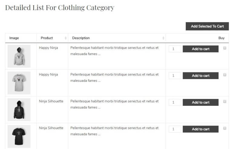 full woocommerce list products functionality