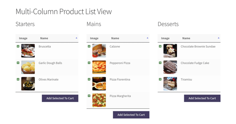 Multiple column WooCommerce product list view