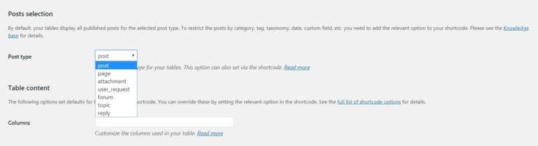 Create a WordPress forum with Posts Table Pro
